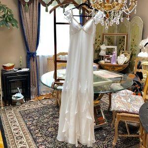 NWT Faviana couture ivory formal dress Sz 0